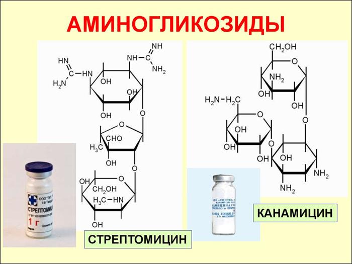Аминогликозиды справляются с болевым синдромом и устраняют отек.