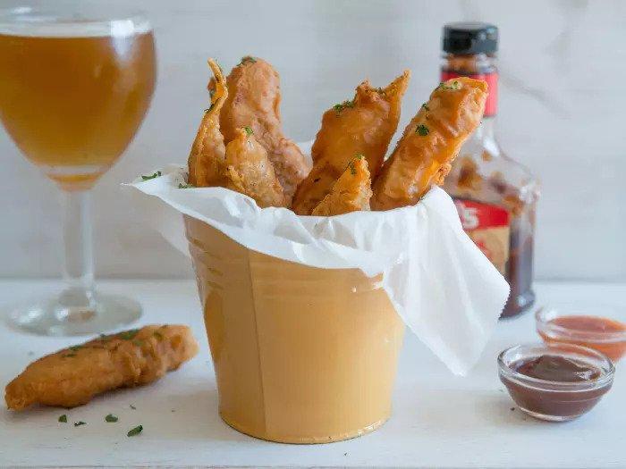 Цыпленок в пивном кляре