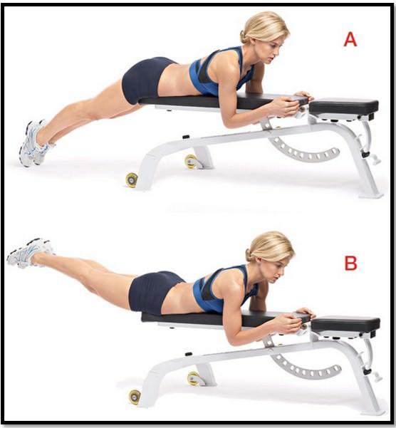 Упражнение обратная гиперэкстензия.