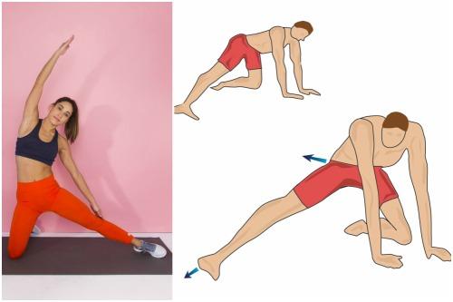 растяжка с колена