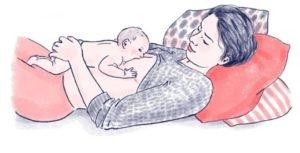 Правильные (удобные) позы для кормления новорожденных грудным молоком