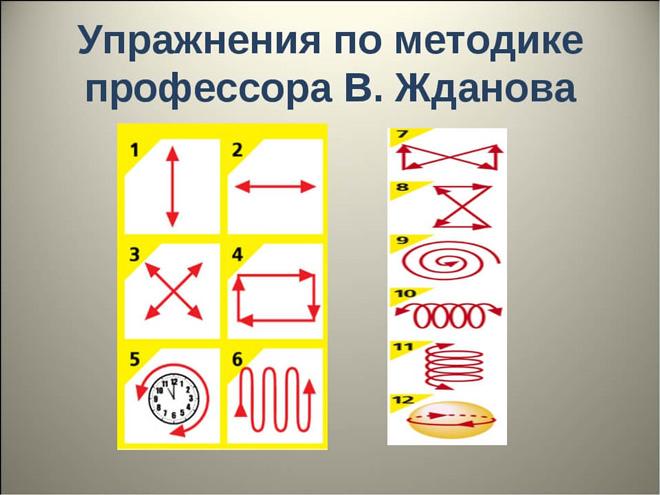 Упражнения по методике Жданова