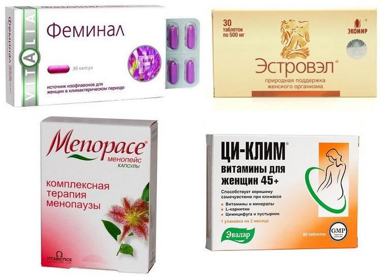 Список фитогормонов для борьбы с симптомами климакса