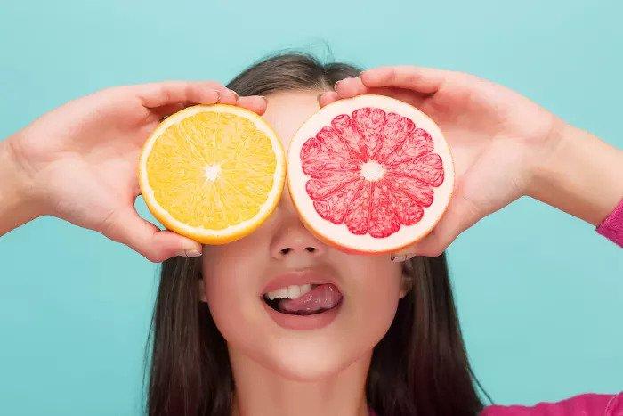 Грейпфрут и апельсин