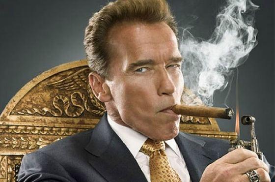 Арни с сигарой