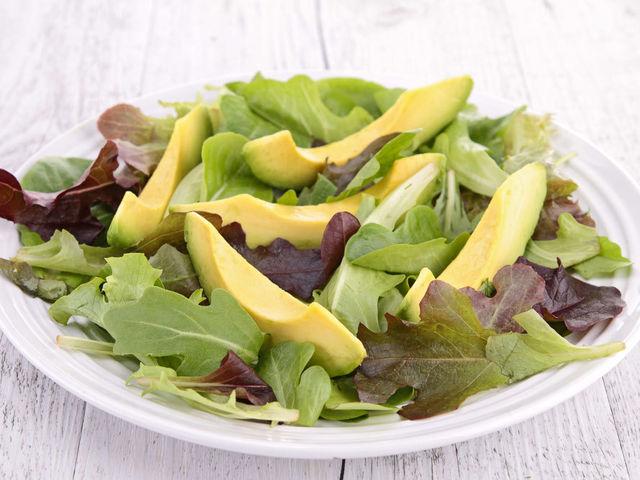 Салат + авокадо