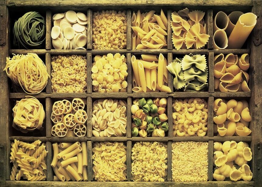 разнообразие макаронных изделий