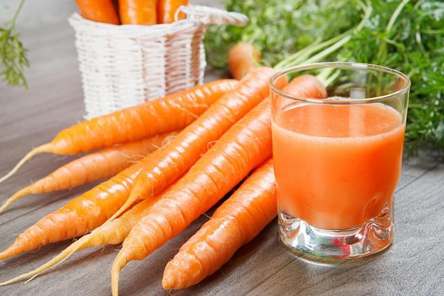На основе сока моркови