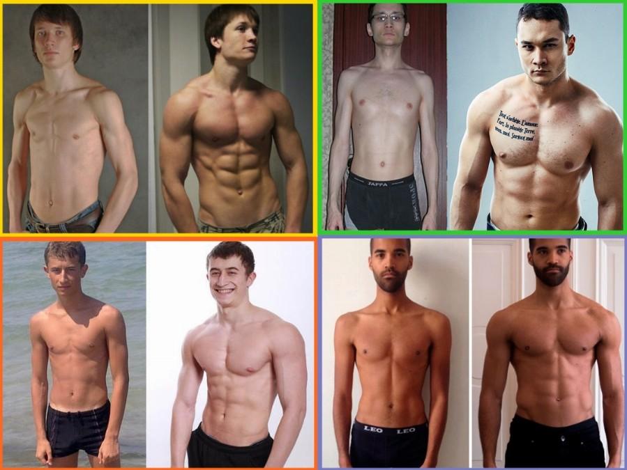 Эктоморфы до и после тренировок