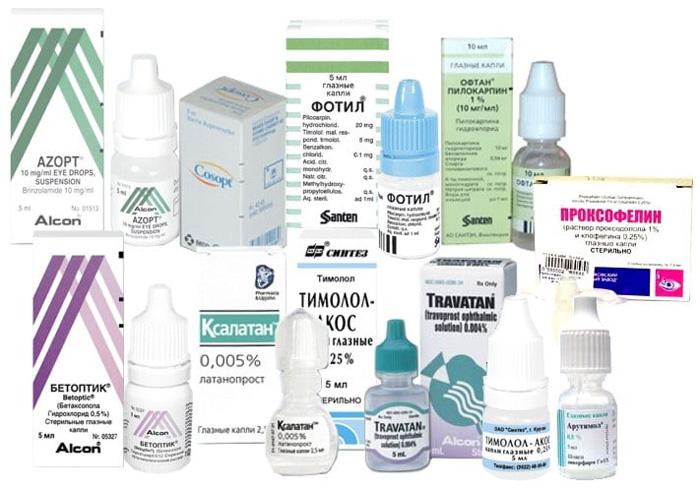 Препараты для лечения открытоугольной глаукомы.