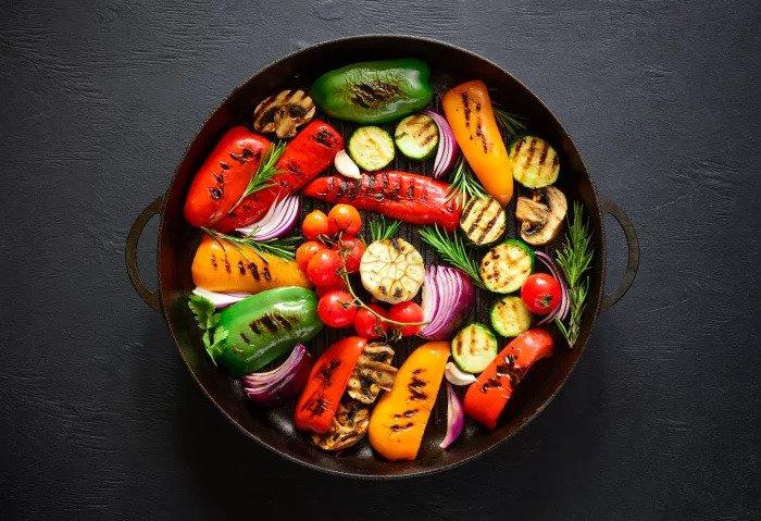 Жареные овощи. Салат Антипасти