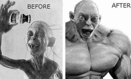 Шмыга до и после тренболона