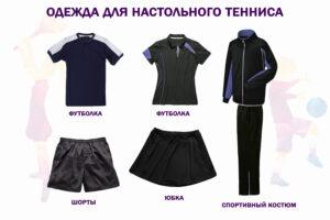 Экипировка для настольного тенниса