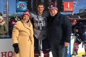 Александр Овечкин с родителями