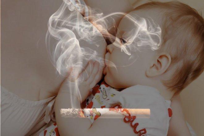 Курение во время кормления грудным молоком: сравнение последствий