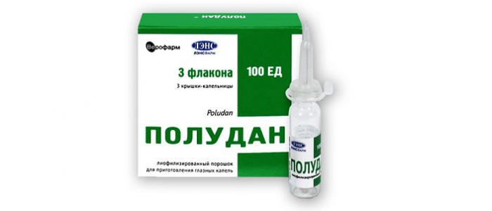 Полудан - комбинированный препарат с иммуностимулирующим действием.