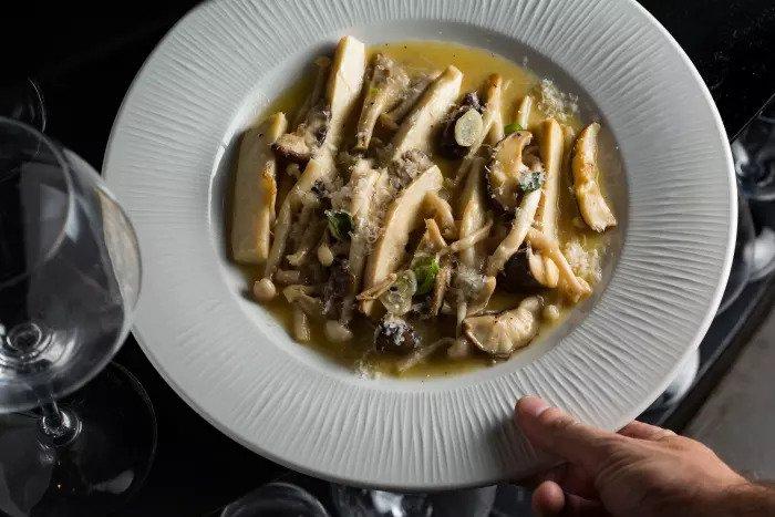 Грибное блюдо от шеф-повара Хаима Коэна