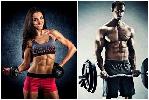 спортивные девушка и парень