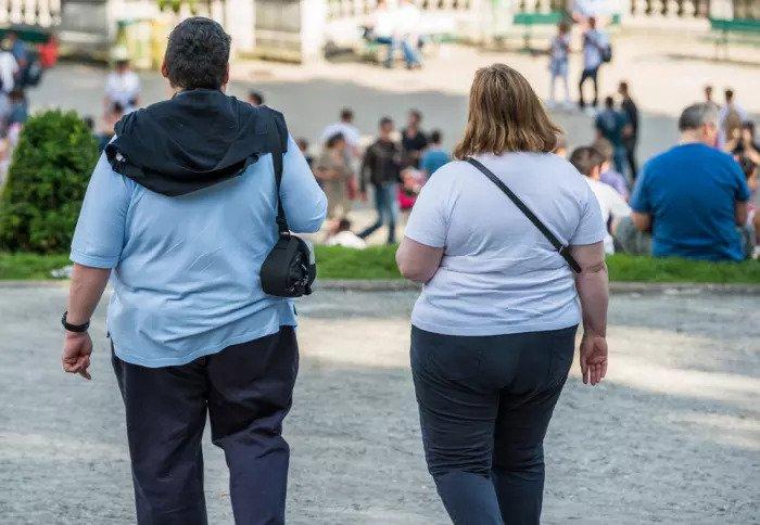 Пара, которая страдает ожирением