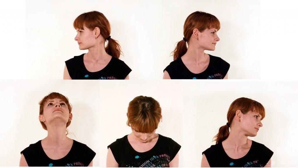 Повороты и наклоны головы также входят в комплекс упражнений для глаз.