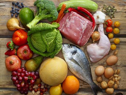 Включая мясо, рыбу, фрукты и овощи