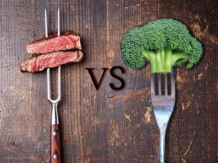 Мясо против брокколи