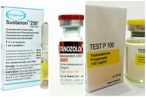 Sustanon, Stanozolol и Propionat